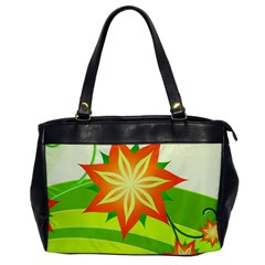Graphics Summer Flower Floral Sunflower Star Orange Green Yellow Office Handbags
