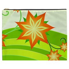 Graphics Summer Flower Floral Sunflower Star Orange Green Yellow Cosmetic Bag (xxxl)