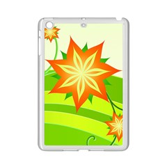 Graphics Summer Flower Floral Sunflower Star Orange Green Yellow Ipad Mini 2 Enamel Coated Cases