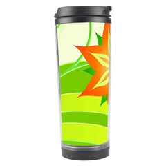 Graphics Summer Flower Floral Sunflower Star Orange Green Yellow Travel Tumbler