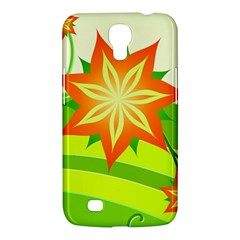 Graphics Summer Flower Floral Sunflower Star Orange Green Yellow Samsung Galaxy Mega 6 3  I9200 Hardshell Case by Alisyart