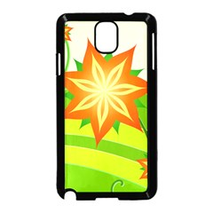 Graphics Summer Flower Floral Sunflower Star Orange Green Yellow Samsung Galaxy Note 3 Neo Hardshell Case (black)