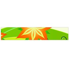 Graphics Summer Flower Floral Sunflower Star Orange Green Yellow Flano Scarf (large) by Alisyart