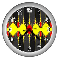 Hyperbolic Complack  Dynamic Wall Clocks (silver)  by Alisyart