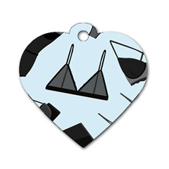Grown Ups Guide To Underwear Opener Black Blue Dog Tag Heart (two Sides) by Alisyart