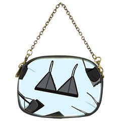 Grown Ups Guide To Underwear Opener Black Blue Chain Purses (two Sides)