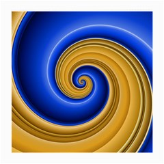 Golden Spiral Gold Blue Wave Medium Glasses Cloth (2 Side) by Alisyart
