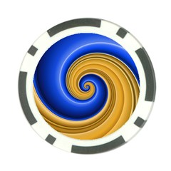 Golden Spiral Gold Blue Wave Poker Chip Card Guard (10 Pack) by Alisyart
