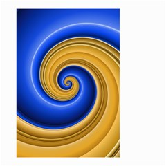 Golden Spiral Gold Blue Wave Small Garden Flag (two Sides) by Alisyart