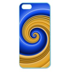 Golden Spiral Gold Blue Wave Apple Seamless Iphone 5 Case (color) by Alisyart