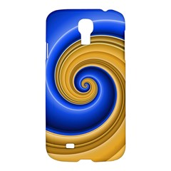 Golden Spiral Gold Blue Wave Samsung Galaxy S4 I9500/i9505 Hardshell Case