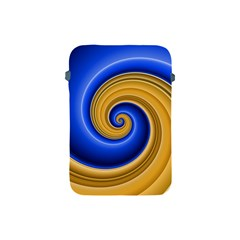 Golden Spiral Gold Blue Wave Apple Ipad Mini Protective Soft Cases by Alisyart