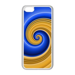 Golden Spiral Gold Blue Wave Apple Iphone 5c Seamless Case (white) by Alisyart