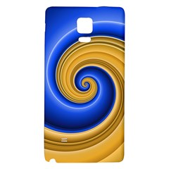 Golden Spiral Gold Blue Wave Galaxy Note 4 Back Case by Alisyart