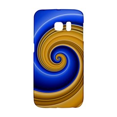 Golden Spiral Gold Blue Wave Galaxy S6 Edge by Alisyart