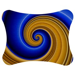 Golden Spiral Gold Blue Wave Jigsaw Puzzle Photo Stand (bow) by Alisyart
