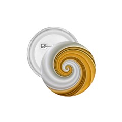 Golden Spiral Gold White Wave 1 75  Buttons