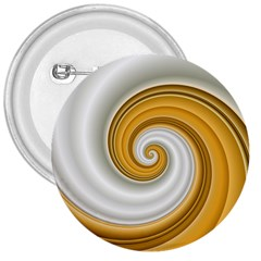 Golden Spiral Gold White Wave 3  Buttons by Alisyart