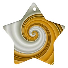 Golden Spiral Gold White Wave Ornament (star) by Alisyart