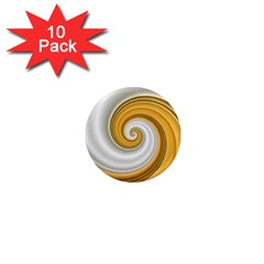 Golden Spiral Gold White Wave 1  Mini Magnet (10 Pack)  by Alisyart