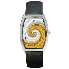 Golden Spiral Gold White Wave Barrel Style Metal Watch by Alisyart