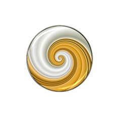 Golden Spiral Gold White Wave Hat Clip Ball Marker (4 Pack) by Alisyart