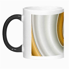 Golden Spiral Gold White Wave Morph Mugs