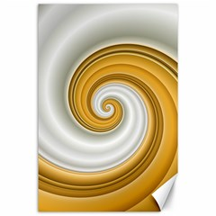 Golden Spiral Gold White Wave Canvas 24  X 36  by Alisyart