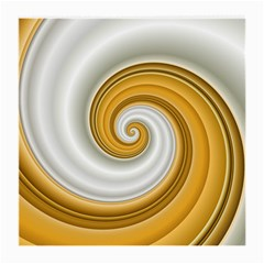Golden Spiral Gold White Wave Medium Glasses Cloth (2 Side) by Alisyart