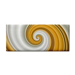 Golden Spiral Gold White Wave Cosmetic Storage Cases by Alisyart