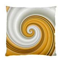 Golden Spiral Gold White Wave Standard Cushion Case (two Sides) by Alisyart