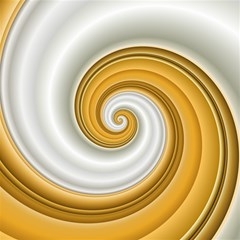 Golden Spiral Gold White Wave Magic Photo Cubes by Alisyart