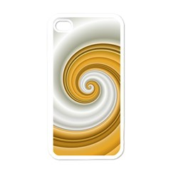 Golden Spiral Gold White Wave Apple Iphone 4 Case (white) by Alisyart