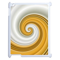 Golden Spiral Gold White Wave Apple Ipad 2 Case (white) by Alisyart