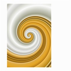 Golden Spiral Gold White Wave Small Garden Flag (two Sides) by Alisyart