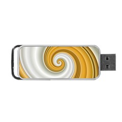 Golden Spiral Gold White Wave Portable Usb Flash (two Sides)