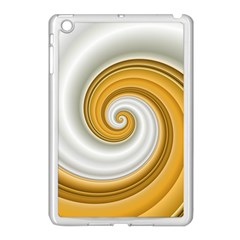 Golden Spiral Gold White Wave Apple Ipad Mini Case (white)