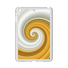 Golden Spiral Gold White Wave Ipad Mini 2 Enamel Coated Cases