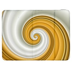 Golden Spiral Gold White Wave Samsung Galaxy Tab 7  P1000 Flip Case by Alisyart