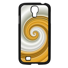 Golden Spiral Gold White Wave Samsung Galaxy S4 I9500/ I9505 Case (black) by Alisyart