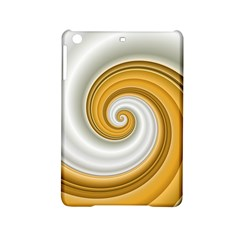 Golden Spiral Gold White Wave Ipad Mini 2 Hardshell Cases by Alisyart