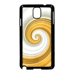 Golden Spiral Gold White Wave Samsung Galaxy Note 3 Neo Hardshell Case (black)