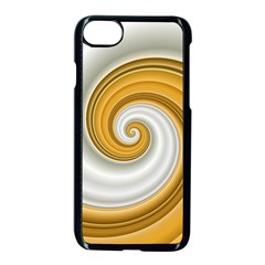 Golden Spiral Gold White Wave Apple Iphone 7 Seamless Case (black)