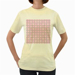 Light Pastel Pink Women s Yellow T Shirt by Alisyart