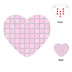 Light Pastel Pink Playing Cards (heart)  by Alisyart