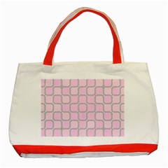 Light Pastel Pink Classic Tote Bag (red) by Alisyart