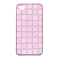 Light Pastel Pink Apple Iphone 4/4s Seamless Case (black) by Alisyart