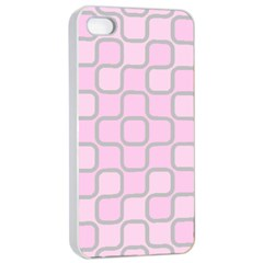 Light Pastel Pink Apple Iphone 4/4s Seamless Case (white) by Alisyart