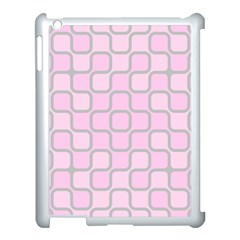 Light Pastel Pink Apple Ipad 3/4 Case (white)