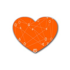 Leadership Deep Dive Orange Line Circle Plaid Triangle Heart Coaster (4 Pack)  by Alisyart